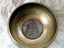Buddha Engraved Tibetan Singing Bowl ~Mallet & Silk Cushion~Reiki,Chakra Healing