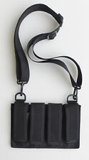 Quad Magazine Pouch with Shoulder Strap - 9MM/40/45 ACP Double Stacked Magazines