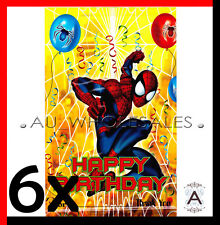 6X SPIDER-MAN SUPERHERO PARTY LOOT LOLLY BAGS BIRTHDAY PARTY SUPPLIES