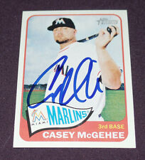 CASEY MCGEHEE SIGNED AUTO'D 2014 TOPPS HERITAGE CARD #H539 MIAMI MARLINS