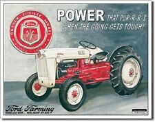 Ford Farming Golden Jubilee Model Tractor TIN SIGN Wall Decor Art Poster Ad