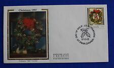 "Canada (1149) 1987 Christmas Holly Wreath Colorano ""Silk"" FDC"