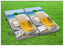 VINYL WRAPS Cornhole Boards DECALS Beer at the Beach Bag Toss Game Stickers 11