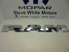 15-17 Dodge Ram 1500 Tailgate R A M Emblem Letters Set Chrome Mopar