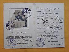 Personal - und Dauer - Ausweiskarte Greifswald 1918 !!!!!
