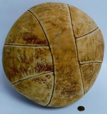 Antique Late 1800's Rawlings? Leather Medicine Ball 8 Panel 12lb Lot 70