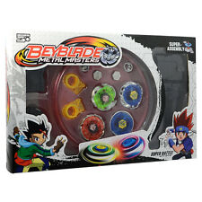 Fusion Top Metal Masters Fight Rare Beyblade 4D Launcher Grip Super Battle Set