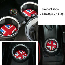 Union Jack Checkered Soft Silicone Cup Holder Coasters For MINI Cooper # 1 pc