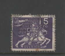 SWEDEN 1924 UPU 15ore VIOLET Used