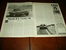 1984 MAZDA RX7  ***ORIGINAL ARTICLE / ROAD TEST*** RX-7