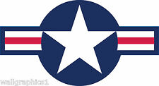 USAF Air Force Logo Wall Graphic Decal Vinyl Sticker Man Cave Bar Room Cling