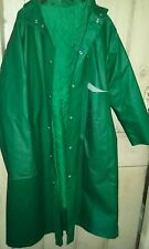 rukka green long waterproof mac rain coat fits uk14