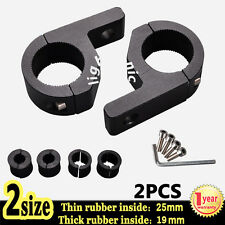 "2X 1"" inch 19 25mm Bull Bar Roll Tube Mount Bracket Clamp Off Road LED Light Bar"