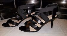 """New Nine West """"Gallettoo"""" Black Strappy Leather Sandal Rare Sz 12"""