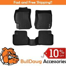 MAXFLOORMAT All Weather Custom Fit Floor Mats Liner Full Set for FORESTER Black