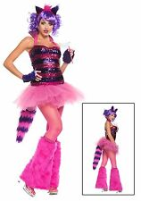WOMEN'S EXCLUSIVE SEXY SEQUIN CHESHIRE CAT COSTUME Size Small