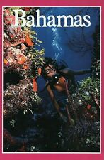 SCUBA Diving in The Bahamas, Coral, Paradise Caribbean Sea, Bubbles --- Postcard