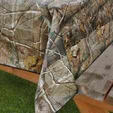 """Realtree Ap Camouflage Peva vinyl flannel back tablecloth 52"""" x 90"""" Oblong"""