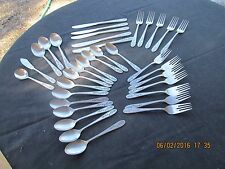 ROGERS CO. STANLEY ROBERTS STAINLESS FLATWARE FLORAL MIST 35PC BLACK TEXTURED