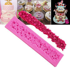 Silicone Pearl Beads Necklace Cake Decorating Mould Sugar Craft Cake Mold DIY