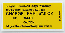 Porsche 911 930 Air Conditioning Charge Level Sticker Decal