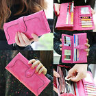 2014 New Fashion Retro Matte Stitching Lady Women Wallet Long Card Holder Purse