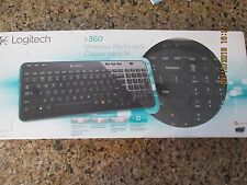 LOGITECH K360 WIRELESS KEYBOARD BLACK RECEIVER UP 6 DEVICES LIMITED EDITION NEW