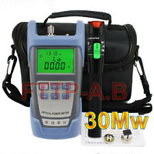 30Mw 25-30km Visual Fault Locator Cable Tester & Fiber Optical Power Meter + bag
