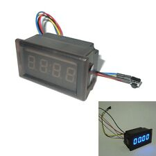 Blue New LED Waterproof Vehicle-mounted Digital Clock Car Accessories v#h9