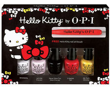 OPI HELLO KITTY Mini Nail Polish Lacquer Set 5 Colors + 1 Nail Art Tool DDH04