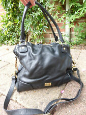 Love Moschino large black leather slouchy tote bag VGC smart shoulder