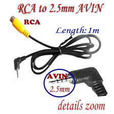 AV-in Video Cable 2.5mm Stereo Male Plug to RCA Female Adapter For GPS Converter