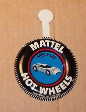 HOT WHEELS Mattel Vintage Redline FORD J CAR Tin Button Badge NICE