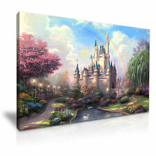 Disney Castle  Kids Canvas Wall Art Picture Print 76x50cm Special Offer