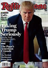 NEW Rolling Stone Magazine Donald Trump 9/24/15 USA Edition No Label President!