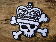 ECUSSON PATCH THERMOCOLLANT aufnaher toppa KING QUEEN SKULL BONE jolly roger