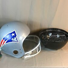 "New England Patriots Helmet 14"" Tailgate Charcoal BBQ Kettle Grill Tailgater NOS"
