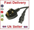 LAPTOP 3 PIN UK MAINS CLOVER LEAF POWER CORD C5 CABLE(2 Meter)