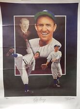 Lefty Gomez Signed New York Yankees 18x24 LE Lithograph Christopher Peluso MLB