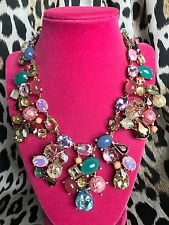 Betsey Johnson Sweet Shop Sweetshop HUGE Candy Pieces Crystal Statement Necklace