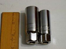 "Matco Tools Silver Eagle 3/8"" DRIVE SPARK PLUG SOCKET SET w/rubber inserts mA"