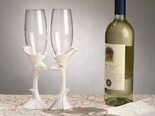 Calla Lily Toasting Flutes Glasses Wedding Toast