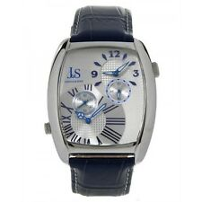 Joshua & Sons Mens JS50BU Blue and Silver-Tone Metal Watch with Silicone Strap
