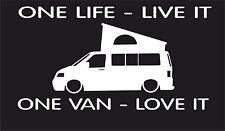 One life,One van T1 T2 T3 T4 T5  surf car JDM VW VAG EURO Vinyl Decal Sticker 5