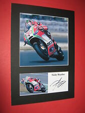 NICKY HAYDEN A4 PHOTO MOUNT SIGNED REPRINT AUTOGRAPH MOTOGP SUPERBIKE HONDA