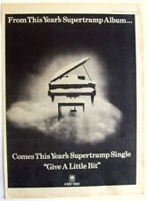 SUPERTRAMP 1977 Poster Ad GIVE A LITTLE BIT