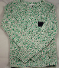 St. John's Bay Ivory with Green Long Sleeve Sweater - Size X-Large