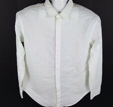 ARMANI COLLEZIONI LONG SLEEVE BUTTON UP SHIRT WHITE TEXTURED  SIZE XXL, G47