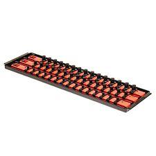 """Ernst 8450 SOCKET BOSS 3 18"""" Rail  Socket Tray Organizer System - Red"""