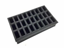 "2"" Battle Foam Pre Cut Foam Tray 27 Slot for Warhammer 40k, Warmachine & more"